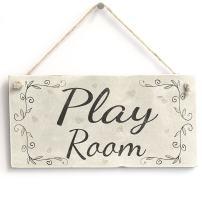 """Meijiafei Play Room - Rustic Country Decor Door Sign/Plaque Kids Room 10""""x5"""""""
