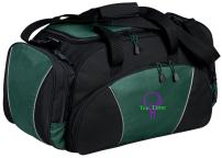 Personalized Golf Gym Duffel Bag with Custom Text | Metro Travel Bag Design with Customizable Embroidered Monogram (Hunter)