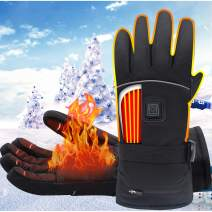 Rabitroom Electric Battery Heated Gloves Men Women Rechargeable Battery Powered Gloves