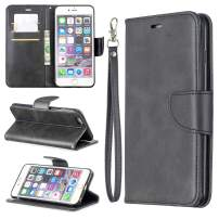 EYZUTAK Wallet Case for iPhone 7 Plus/8 Plus, Soft Printed PU Leather Phone Case Full Protection Solid Color Magnetic Flip Buckle Case Kickstand Cover for iPhone 7 Plus/8 Plus - Black