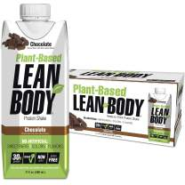 Lean Body Ready-to-Drink, Plant-Based Vegan Chocolate Protein Shake, 30g Protein, No Artificial Flavors, Sweeteners or Colors, Non GMO, Gluten Free, High Quality Pea & Rice Blend (Pack of 12)