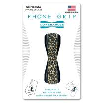 LoveHandle Universal Grip for Smartphone and Mini Tablet, Leopard Design Elastic Strap with Black Base