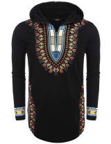 COOFANDY Men's Hip Hop Tribal Style African Dashiki Hoodie Sweatshirts