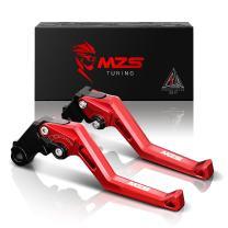 MZS Clutch Brake Levers Square Adjustment Red CNC Compatible with RC390 D390 2013-2019| D125 RC125 2014-2019| D200 RC200 2014-2019| 390 Adventure| Husqvarna Svartpilen Vitpilen 401