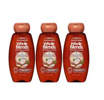 Garnier Whole Blends Smoothing Shampoo for Frizzy Hair with Coconut Oil, 12.5 Fl Oz (3 Count)