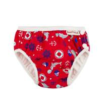 ImseVimse Reusable Baby Swim Diapers for Boys (Red Marine, L 12-18M (20-26 lbs))