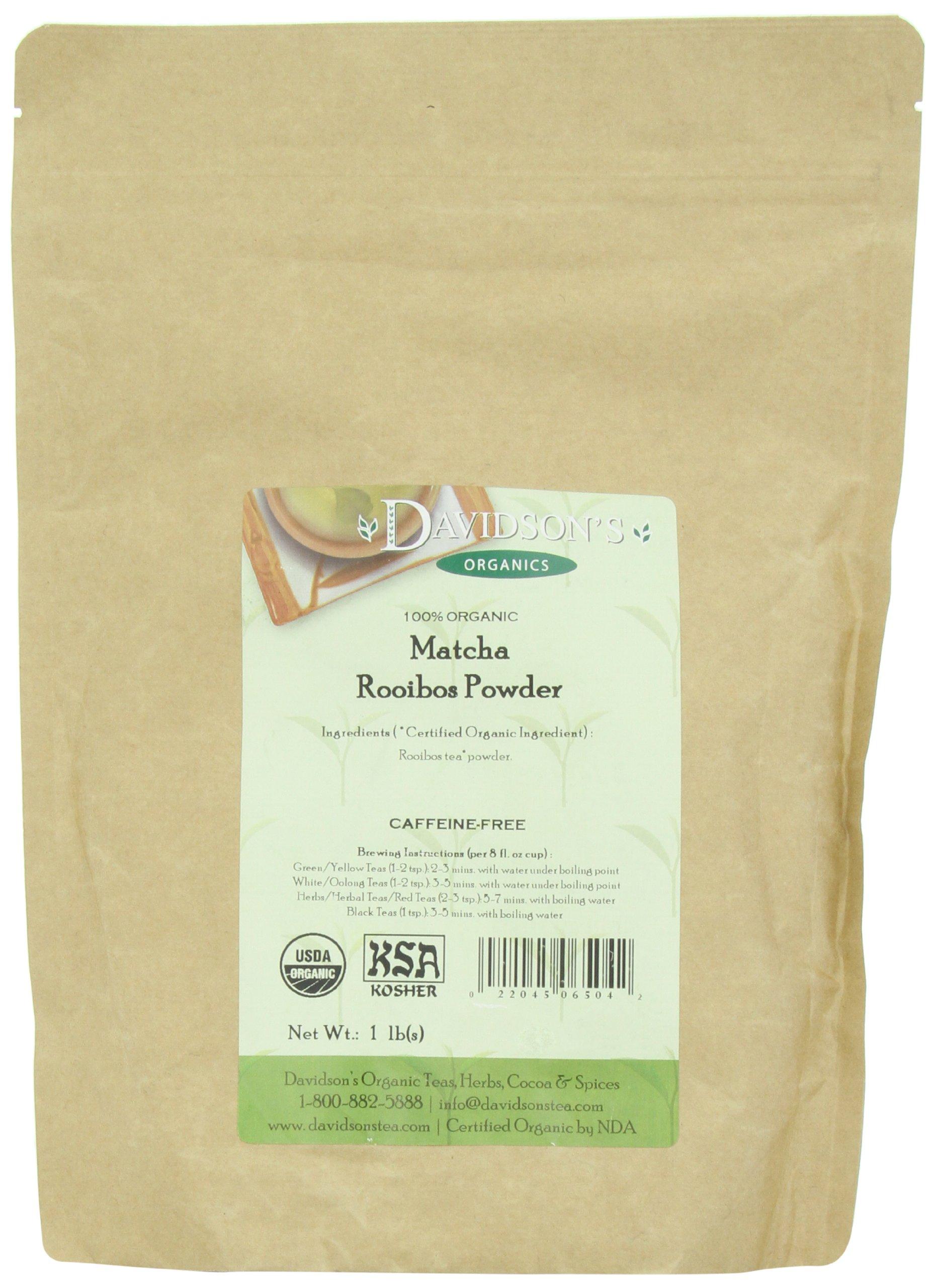 Davidson's Tea Bulk, Matcha Rooibos Powder, 16 Ounce