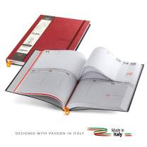 Premium 2020 Daily Planner with Flexible Covers - 365 Days for Business or Personal Use Agenda - Yearly Journal Organizer for Weekly and Monthly Productivity - Updated Diary Made in Italy