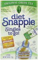Diet Snapple Singles To Go Water Drink Mix - Green Tea Flavored Powder Sticks (12 Boxes with 6 Packets Each - 72 Total Servings) - ORIGINAL FLAVOR