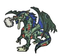 Dead Zombie Dragon Iron On Patch