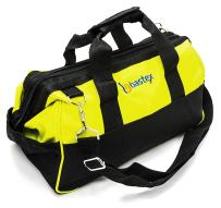 Bastex Multi Purpose Tool Bag Carrying with Adjustable Shoulder Strap. 15 inch Wide Mouth Opening with 14 Separate Pockets. Water Resistant and Perfect for The Handyman, Electricians and Plumbers