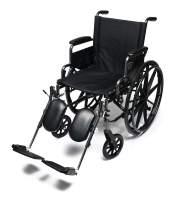 "Everest & Jennings Traveler L4 Lightweight Wheelchair, Adjustable-Height Desk Arms & Elevating Legrests, 18x16"" Seat, Silvervein Color"
