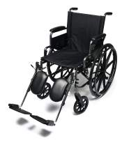"Everest & Jennings Traveler L4 Lightweight Wheelchair, Adjustable-Height Desk Arms & Elevating Legrests, 18x18"" Seat, Silvervein Color"