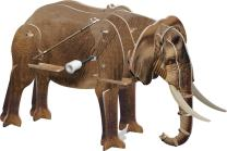 "Smithsonian Mini 5"" African Elephant 3D Build & Play Motorized Puzzle"