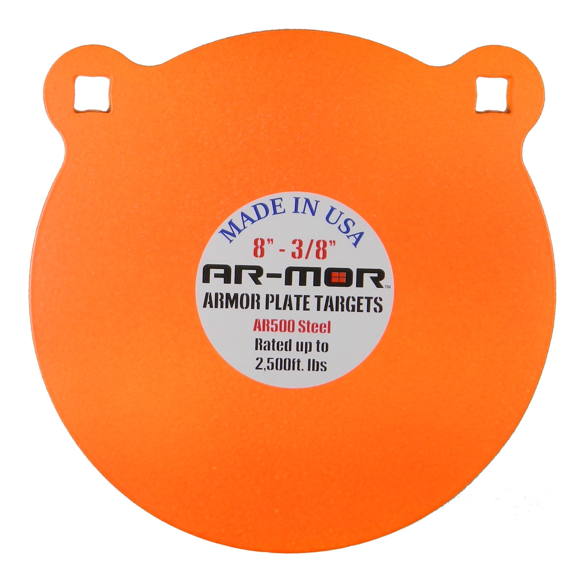 "AR-MOR Targets 3/8"" Thick Round AR-500 Gong"