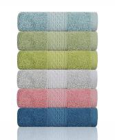 "Cleanbear Hand Towel Face Towel Set,100% Cotton, Assorted Colors Hand Towels, Size 29""x13"", 6-Pack 6 Colors"