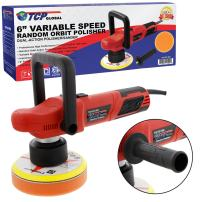 "TCP Global 6"" Variable Speed Random Orbit Dual-Action Polisher; Professional High Performance - Buff, Polish & Detail Car Auto Paint"
