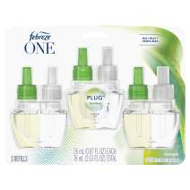 Febreze One Plug in Air Freshener and Odor Eliminator, Scented Oil Refill, Bamboo, 3 Count