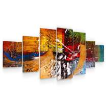 Startonight Large Canvas Wall Art - Abstract Dimensions - Huge Framed Modern Set of 7 Panels 40 x 95 Inches