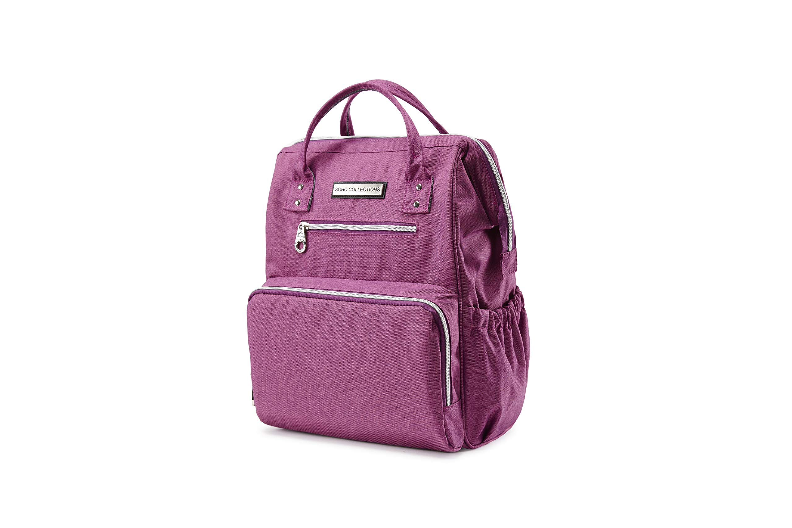 SoHo WideOpen Diaper Backpack Tote 5Pc, Lavender