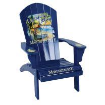 Margaritaville Outdoor Patio Wood Adirondack Chair, Castaway Bay