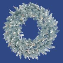 "Vickerman K166947 Fir Wreath with 480 PVC Tips, 48"", Silver"