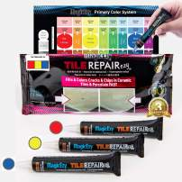 MagicEzy Tile Repairezy Fix Cracked and Chipped Ceramic Tiles, Bathtubs, Showers, Sinks Fast - Tile Repair Filler - Porcelain, Granite, Marble, Stone (Primary Color Kit)