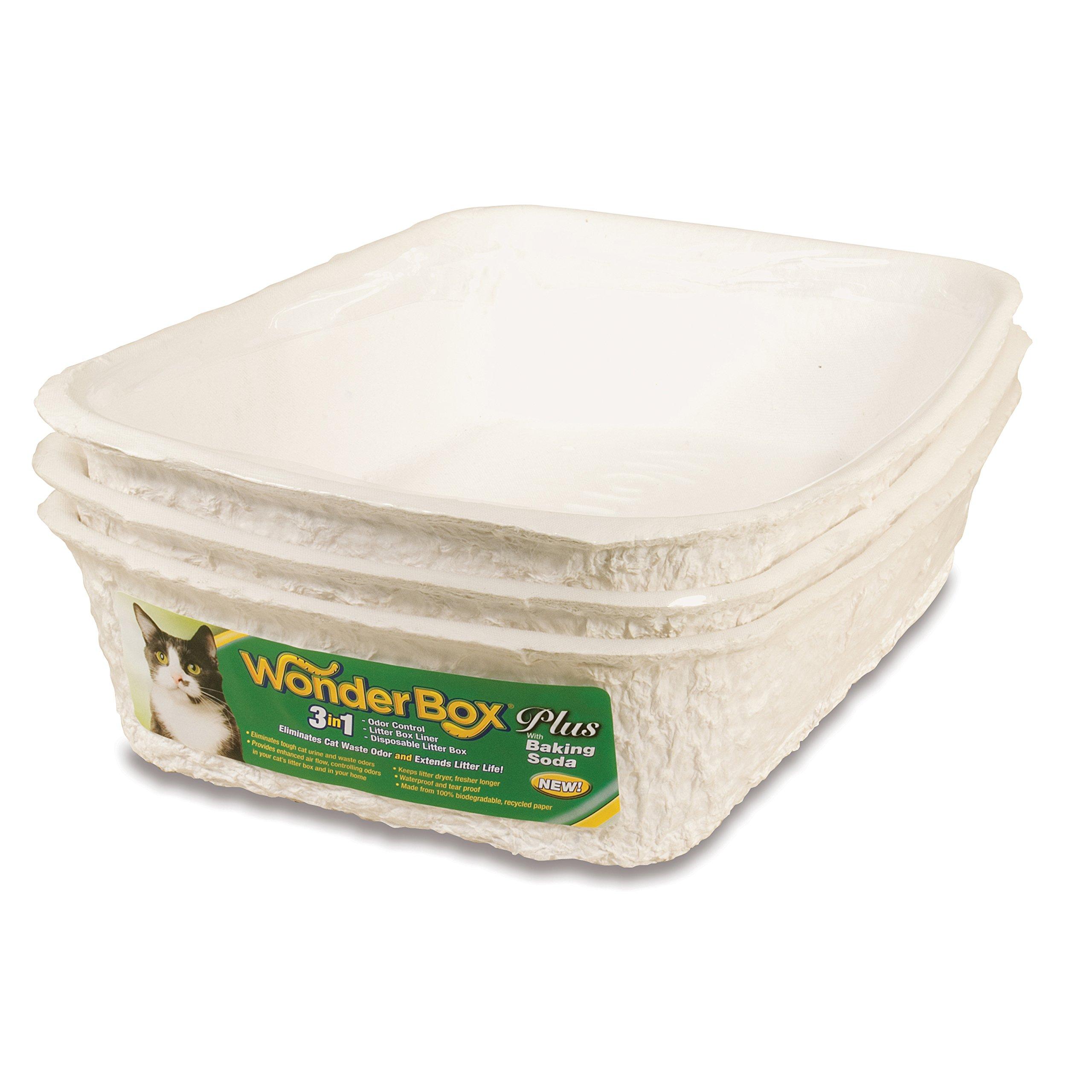 Kitty's WonderBox Disposable Litter Box, Medium, 3-Count