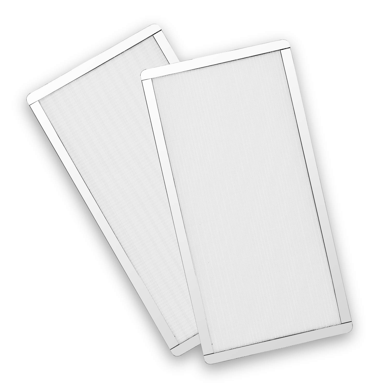287mm 140mm x 2 PC Fan Dust Mesh Filter PVC Computer PC Case Dust Proof Filter Cover Magnetic White 2-Pack