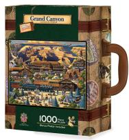 MasterPieces Collector Suitcase Jigsaw Puzzle, Grand Canyon National Park, Features Historical Landmarks, 1000 Pieces