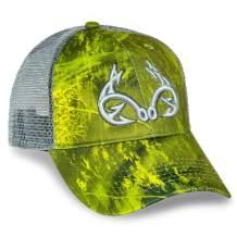 Realtree Fishing Heathered Adjustable Cap, Mesh Snap Back, Camo Pattern, Adjustable Velcro, Trucker Hats