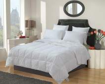 Eastwarmth Luxury White Goose Down Comforter Blanket Duvet Insert Warm Lightweight Bedding Twin/Twin XL Size, 100% Organic Cotton, 650+ Filling Power
