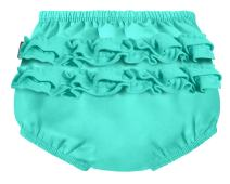 City Threads Baby Girls' Ruffle Swim Diaper Cover Reusable Leakproof for Swimming Pool Lessons Beach, Turquoise, 9/12m