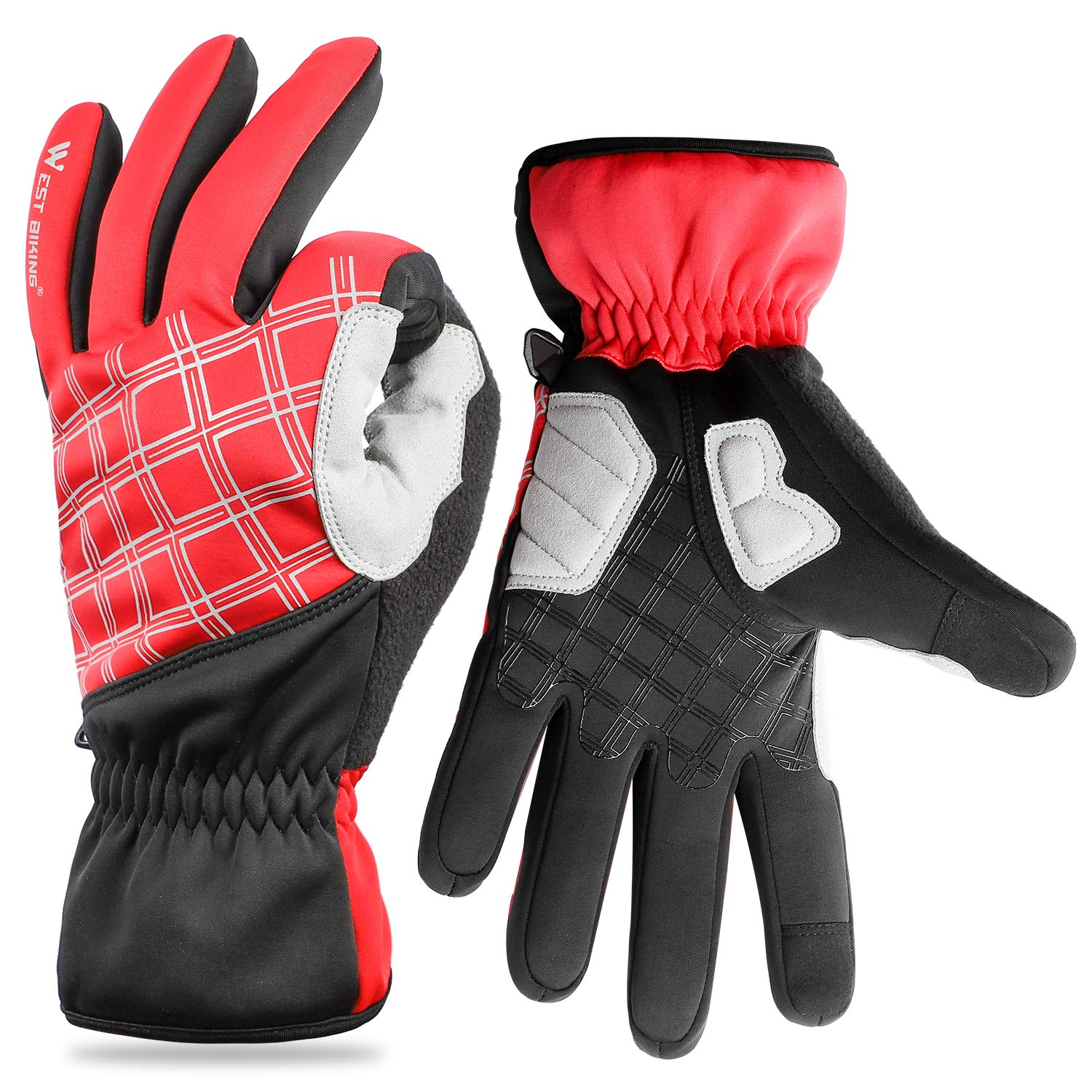 Winter Gloves, Cold Weather Windproof Waterproof Touchscreen Gloves for Men Women, Warm Thermal Gloves for Cycling, Running, Skiing (3 Colors)