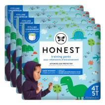 The Honest Company Toddler Training Pants   Dinosaurs   4T/5T   76 Count   Eco-Friendly   Underwear-Like Fit   Stretchy Waistband & Tearaway Sides   Perfect for Potty Training