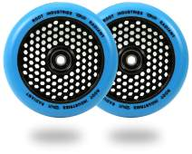 Scooter Wheels 120mm Honeycore - 120mm Scooter Wheels - Honeycomb Scooter Wheels - Pro Scooter Wheels - 24mm x 110mm - Bearings Installed - 90 Day Warranty - Scooter for Kids - Scooter Part