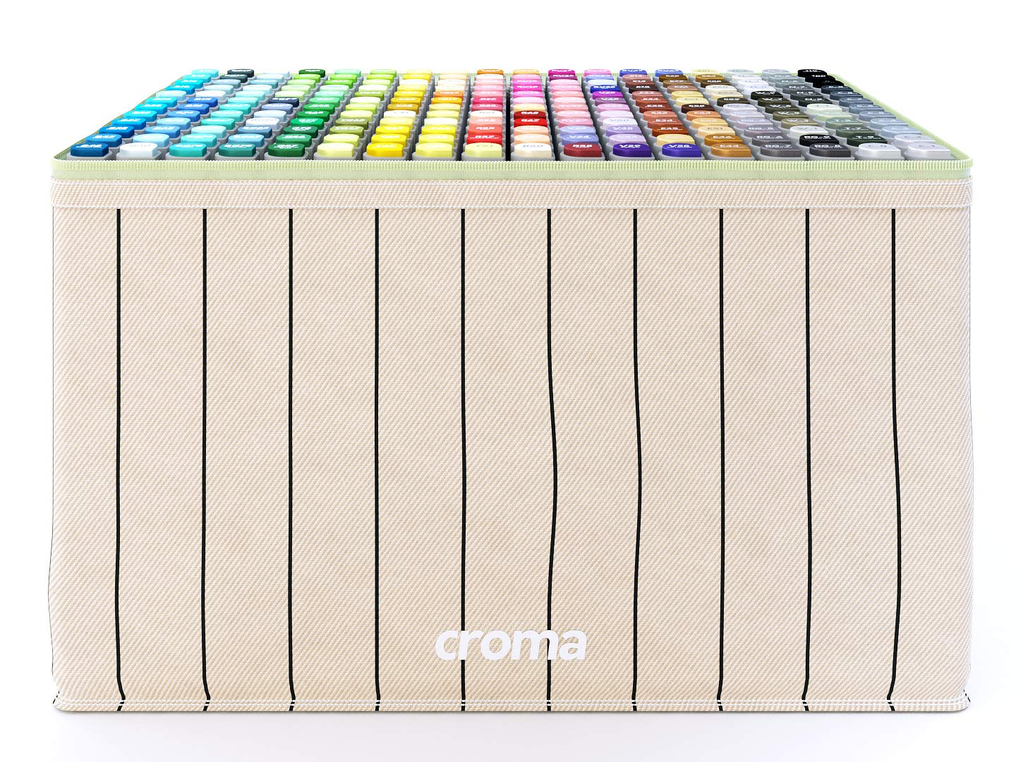 Croma Lite Brush Dual Tip Alcohol Based Sketch Markers, 216 Full Set, for Coloring Manga, Comic, Illustrations, Art, Industrial Design, Professional Artists, with Cotton Canvas Bag