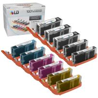 LD Compatible Ink Cartridge Replacement for Canon PGI-250XL & CLI-251XL High Yield (3 Pigment Black, 2 Black, 2 Cyan, 2 Magenta, 2 Yellow, 11-Pack)