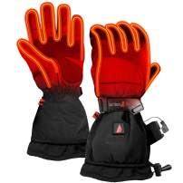 The Warming Store ActionHeat 5V Rechargeable Battery Heated Gloves for Men, Waterproof Insulated Ski Gloves, Hunting Gloves, Heats Up to 145F