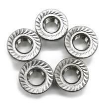 (20 PCS) 3/8-16 Stainless Steel Serrated Flange Nuts,Flange Lock Nut,by Fullerkreg
