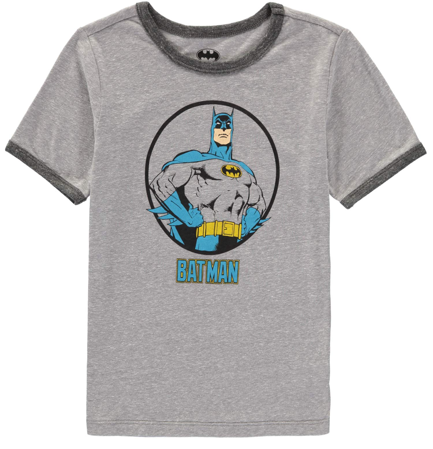 Happy Threads Toddler Boys Dark Grey Short Sleeve T-Shirt