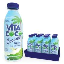 Vita Coco Coconut Water, Pure   Natural Hydrating Electrolyte Drink   Smart Alternative To Coffee, Soda, & Sports Drinks   Gluten Free   16.9 Oz Slim Bottle (Pack Of 12)