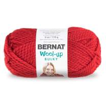 Bernat Wool-Up Bulky Yarn, 6 oz, Gauge 6 Super Bulky, Red