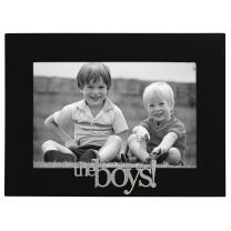 Malden International Designs 4307-46 The Boys! Expressions Picture Frame, 4x6, Black