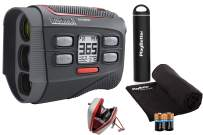 Bushnell Hybrid Golf Laser/GPS Rangefinder Bundle   Pinseeker w/Jolt, 1000 Yards, 5X Mag, Case   201835 (+ PlayBetter Portable Charger, Microfiber Cleaning Towel & Extra CR2 Battery)