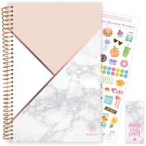 """bloom daily planners 2020-2021 Academic Year Day Planner (July 2020 - July 2021) - Goal Organizer Calendar - Weekly/Monthly Agenda Book w/Stickers & Bookmark (6"""" x 8.25"""") - Color Blocking Marble"""