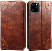 iPhone 11 Pro Max Leather Case, SINIANL iPhone 11 Pro Max Wallet Folio Case Book Design Magnetic Closure with Stand and ID Holder Credit Card Slots for iPhone 11 Pro Max 6.5 inch 2019 Khaki