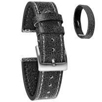 Leather Watch Band for Men, Quick Release Strap Top Grain Calfskin Real Leather Soft Vintage Replacement of 18mm, 20mm or 22mm for Men Women