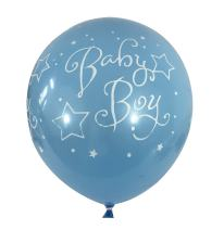 "Allgala 100ct 12"" Helium Grade Premium Latex Balloons-""Baby Boy""-BL52052"