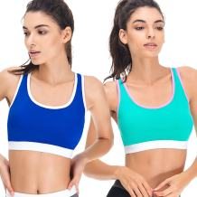 Curve Muse Women Slim Fit Sports Bras-Medium Impact Gym Activewear-1 or 2 Pack